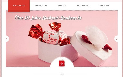 Content-Marketing Hochzeit-Bonbons