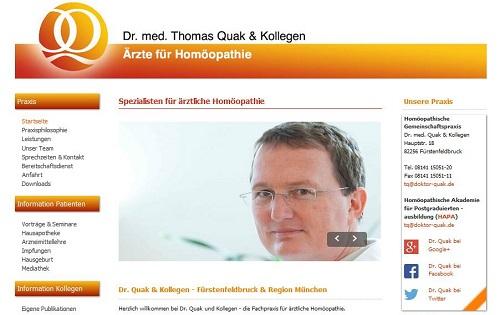 Webseiten-Konzeption Dr. Quak