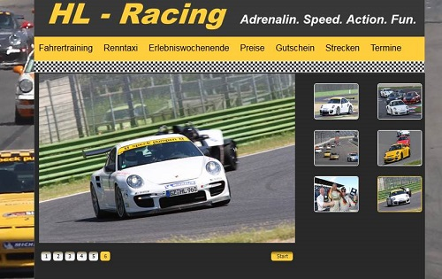 Webseiten-Konzeption HL-Racing