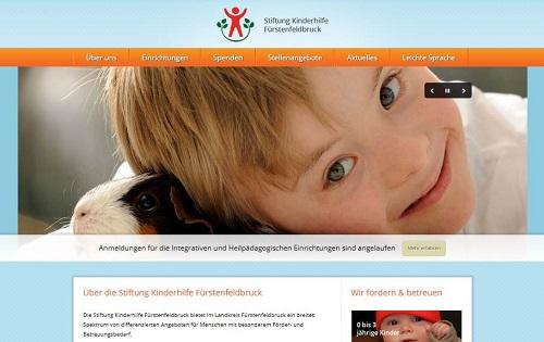 Webseiten-Konzeption Stiftung-Kinderhilfe Fürstenfeldbruck