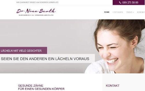 OnPage-Seo-Beratung Zahnarzt Dr. Nina Barth